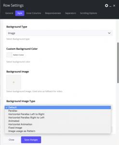 Background Image types in Impeka