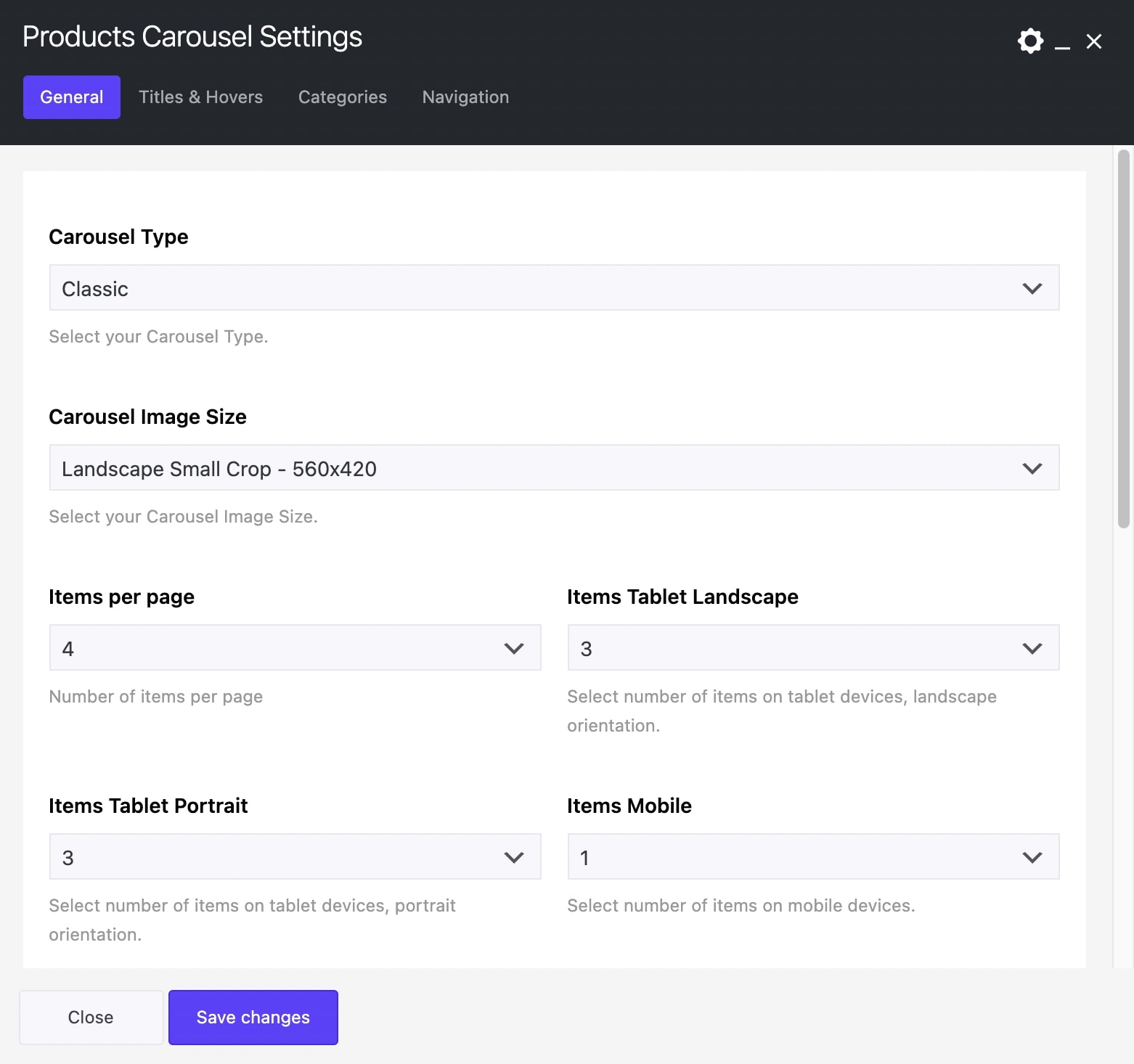 WooCommerce Products Carousel Element in Impeka