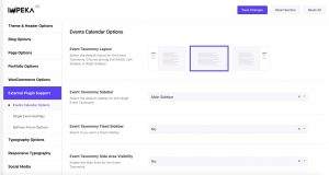 Events Calendar Options in Impeka
