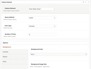 Feature Section Posts Slider in Impeka