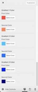 Customize Gradient Colors in Impeka