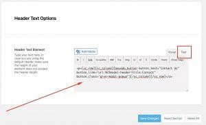 Header Text Element Button Shortcode