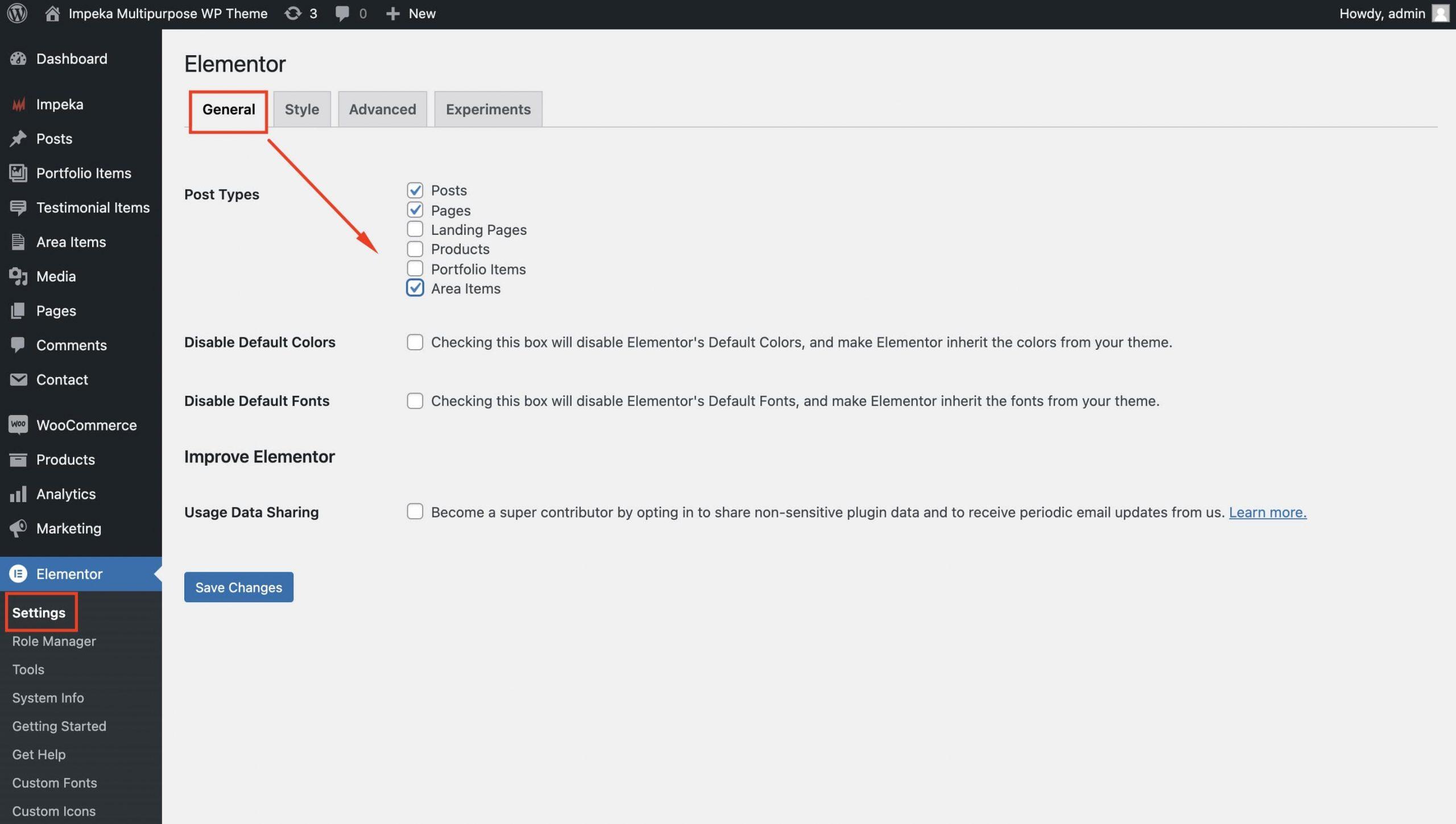Enable custom post types in Elementor