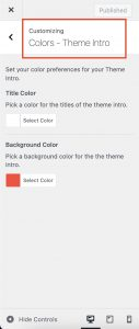 Theme Intro Loader Colors in Impeka
